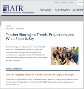 Teacher Shortages: Trends, Projections, and What Experts Say