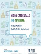 cover for Micro-Credentials and Teachers: What Do We Know? What Do We Still Need to Learn?