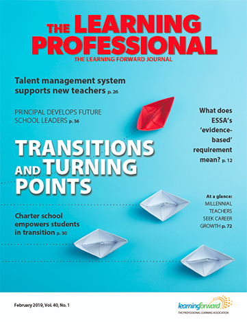 Recent Highlights: Article in The Learning Professional Journal