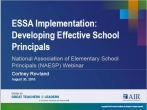 ESSA Implementation: Developing Effective School Principals