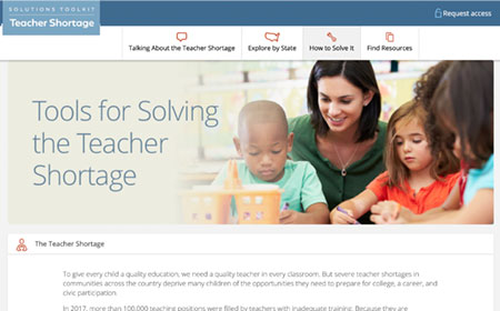 Teacher Shortage Solutions Toolkit from Learning Policy Institute