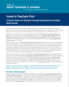 Cover of Invest in Teachers First