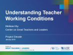 Understanding Teacher Working Conditions