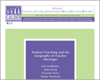 Student Teaching and the Geography of Teacher Shortages