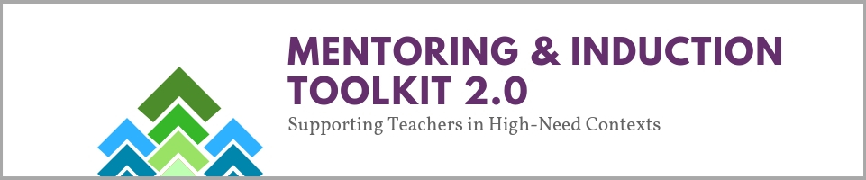 Mentoring & Induction Toolkit 2.0 Banner