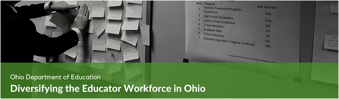 Ohio: Diversifying the Educator Workforce Banner