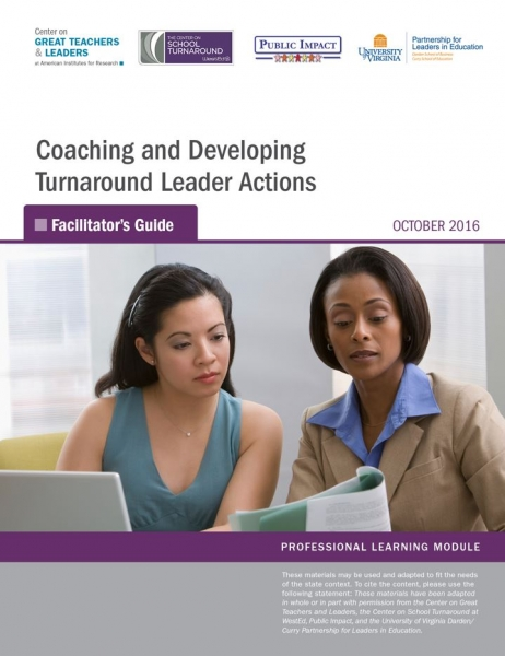 Coaching and Developing Turnaround Leader Actions