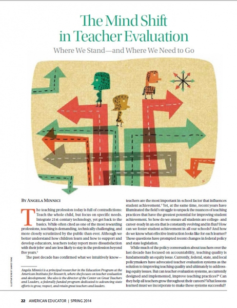 The Mind Shift in Teacher Evaluation