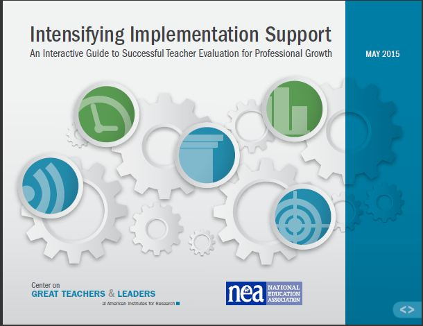 Intensifying Implementation Support: An Interactive Guide to Successful Teacher Evaluation for Professional Growth