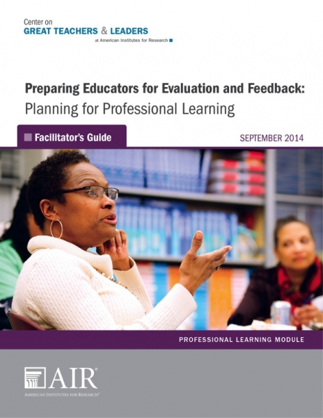 Preparing Educators for Evaluation and Feedback: Planning for Professional Learning