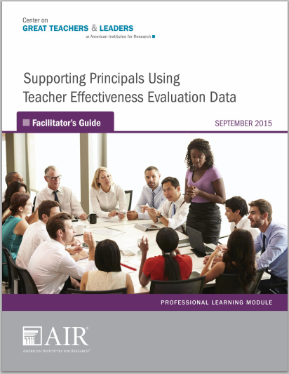 Supporting Principals Using Teacher Effectiveness Data