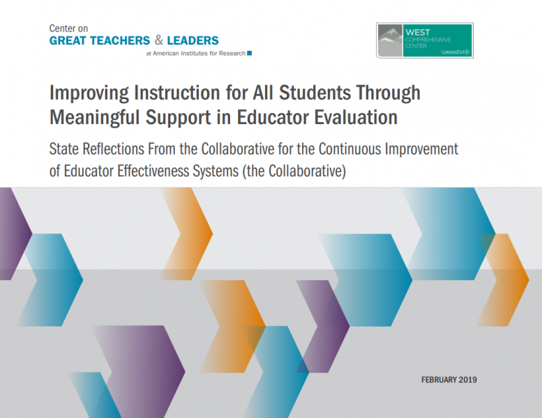 Improving Instruction for All Students Through Meaningful Support in Educator Evaluation