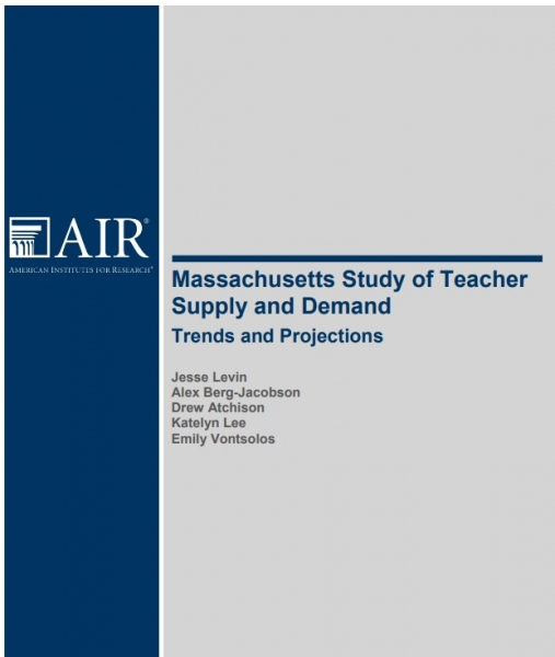 Massachusetts Study of Teacher Supply and Demand: Trends and Projections